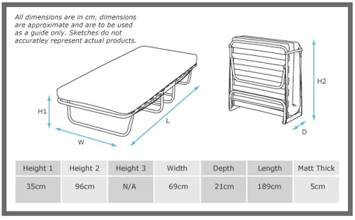 Deluxe Folding Guest Bed