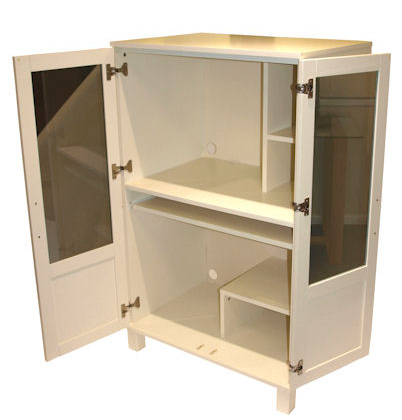 New England Hideaway Computer Cabinet - Furniture247