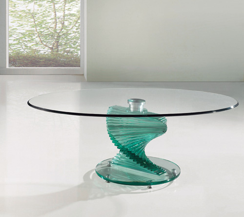 Twirl Glass Coffee Table Furniture247