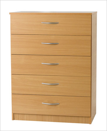 Midi Beech Chest With Five Drawers