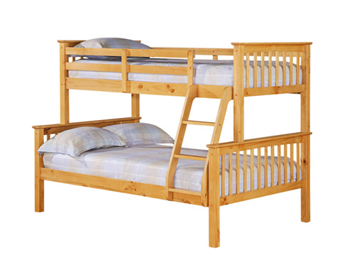 otto 4 foot triple sleeper bunk bed. Black Bedroom Furniture Sets. Home Design Ideas