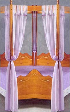 Set of voile polyester four poster bed curtains - Four poster bed curtains ...