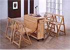 Deluxe Butterfly Dining Set - Natural Golden Oak