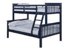 Otto 4 Foot Triple Sleeper Bunk Bed - Navy