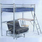 Study Bunk Bed with Mattresses