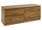 Andante Walnut Finish Two Drawer Double Chest