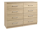 Andante Oak Finish Four Drawer Double Chest