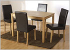 Ashmere Dining Set with Espresso Brown Chairs
