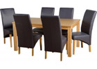 Belgravia Dining Set with Charcoal Grey Faux Leather Chairs