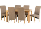 Belgravia Dining Set with Sand Fabric Chairs