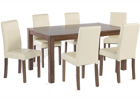 Brompton Large Dining Table Plus Six Cream Dining Chairs