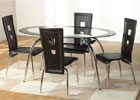 Caravelle Black Glass Dining Set