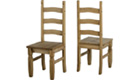 Corona Distressed Waxed Pine Dining Chairs