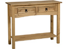 Corona Two Drawer Console Table