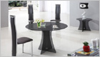 Astoria Round Dining Table with Smoked Black Glass and G650 Chairs
