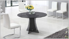 Astoria Round Dining Table with Smoked Black Glass and G654 Chairs