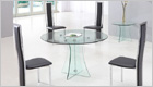 Astoria Round Dining Table with Clear Glass and G650 Chairs