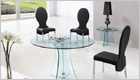 Astoria Round Dining Table with Clear Glass and G656 Chairs