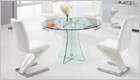 Astoria Round Dining Table with Clear Glass and G632 Chairs