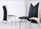 G614 Chairs - Black and Cream
