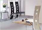 Gio Small Extending Dining Set and G525 Tall Back Cut Out Chairs