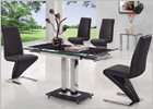Gio Small Extending Dining Set and G632 Z Chairs