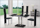 Gio Small Extending Dining Set and G650 Full Framed Tall Back Chairs