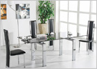 Maxi Extending Dining Table Clear Glass