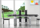 Maxi Extending Dining Table Black Glass
