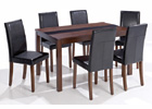 Ash-Leigh Walnut Dining Set - Large Table with Six Chairs