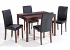 Ash-Leigh Walnut Dining Set - Medium Table with Four Chairs
