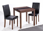 Ash-Leigh Walnut Dining Set - Small Table with Two Chairs