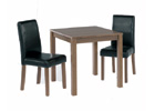 Brompton Small Dining Table Plus Two Black Dining Chairs