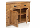 Dorset Large Sideboard - Three Doors with Integral Shelves