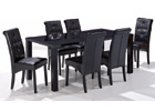 Large Monroe Dining Set - High Gloss Black