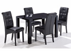 Medium Monroe Dining Set - High Gloss Black