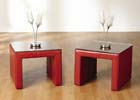 Luxor Rustic Red Lamp Table