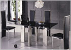 Matrix Large Dining Set with Black Glass