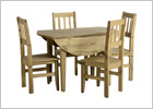 Mexican Round Drop Leaf Dining Set - Closed