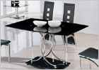 Naples Dining Set with Black Glass