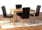 Oakmere Dining Set with Expresso Brown Faux Leather Chairs