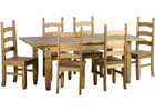 Corona Extending Dining Set - Extended