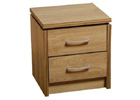 Charles Two Drawer Bedside Chest
