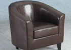 Espresso Brown Tempo Tub Chair