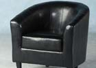 Black Tempo Tub Chair