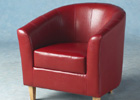 Rustic Red Tempo Tub Chair