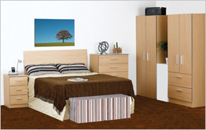 Mode Oak Pre-assembled Bedroom Furniture