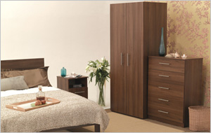 Mode Tobacco Walnut Pre-assembled Bedroom Furniture