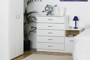 Budget Silver and White Furniture
