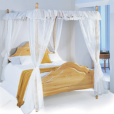 Lace Curtains For Four Poster Beds From